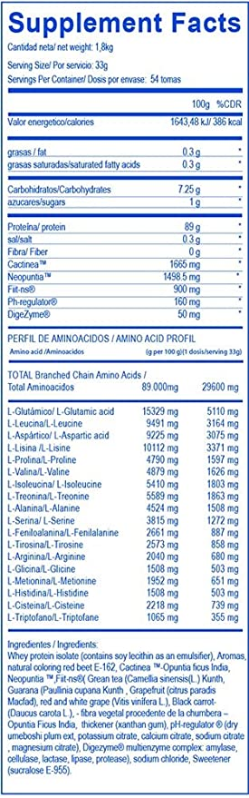 BIG CFM ISO Dry Proteína Aislado, Mezcla Sinérgica - 1800 gr