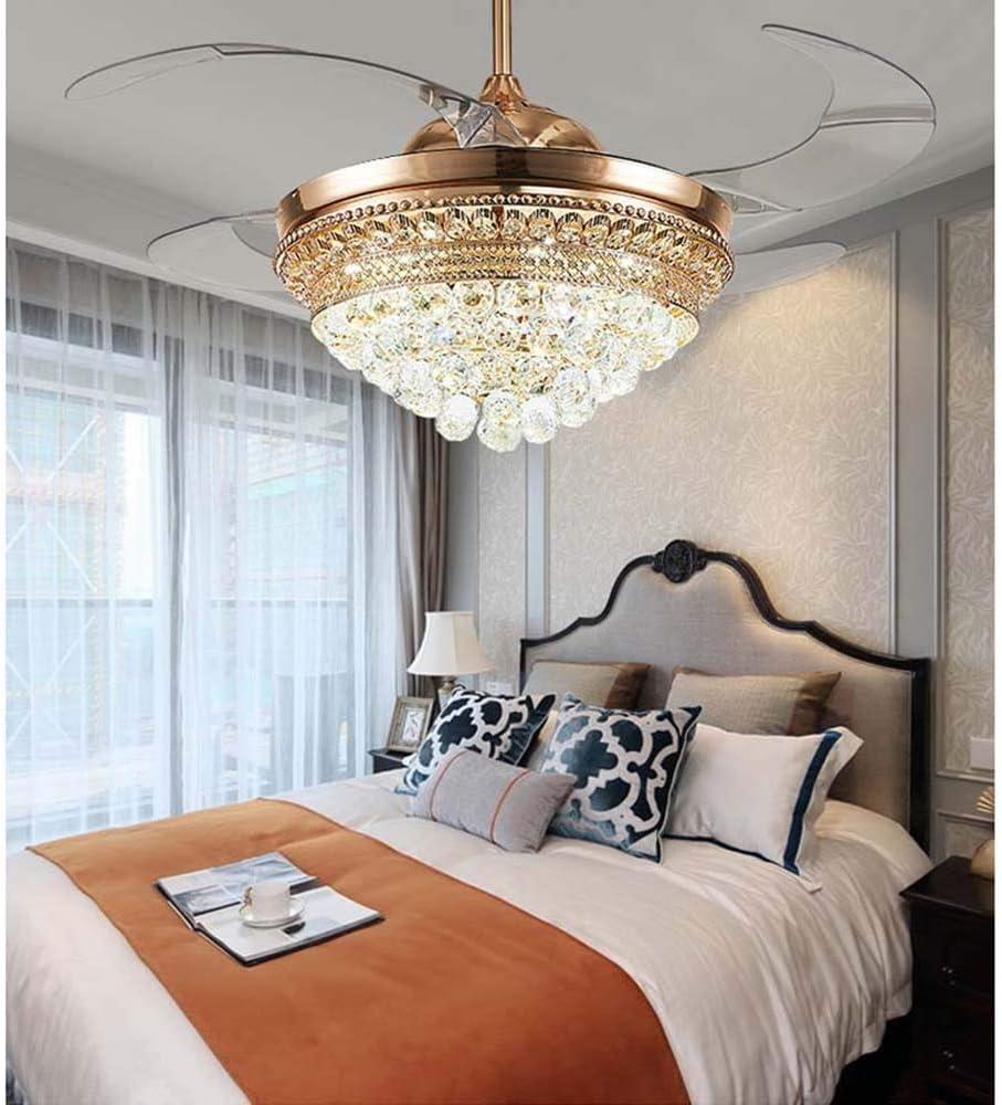 Ventilador de techo invisible de luz simple de 52 pulgadas de Hogares de luces del ventilador moderno restaurante del dormitorio de la sala Con Mute LED 55cm * 55cm * 39cm Hermosa Lujoso