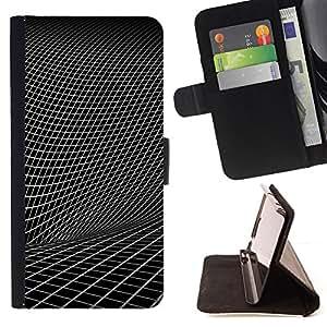 BullDog Case - FOR/Sony Xperia Z3 D6603 / - / Abstract Geometry /- Monedero de cuero de la PU Llevar cubierta de la caja con el ID Credit Card Slots Flip funda de cuer