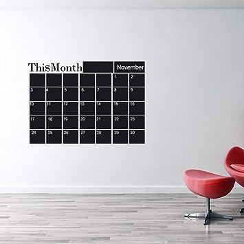1 calendario mensual para pared de pizarra, calcomanías para ...