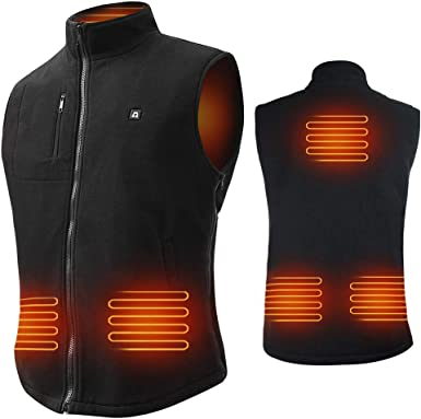 M-XXL TOPAUP Electric Heated Vest Washable USB Powered Heated Gilet Waterproof Lightweight Body Warmer for Outdoor Camping Hiking Hunting