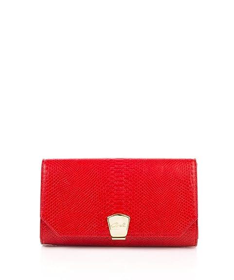 AXEL - Cartera de mano de cuero sintético para mujer Rojo rojo :28X15H CM: Amazon.es: Zapatos y complementos