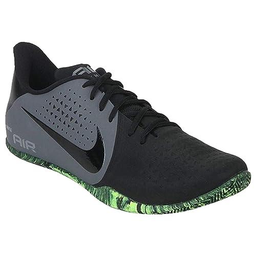 6729d4a40d5d9 Nike Men s Air Behold Low Dark Grey-Black-Volt Basketball Shoes-7 UK ...