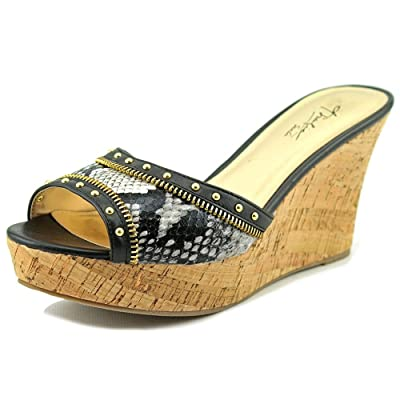 Thalia Sodi Women's Estella Open Toe Synthetic Slides Sandal