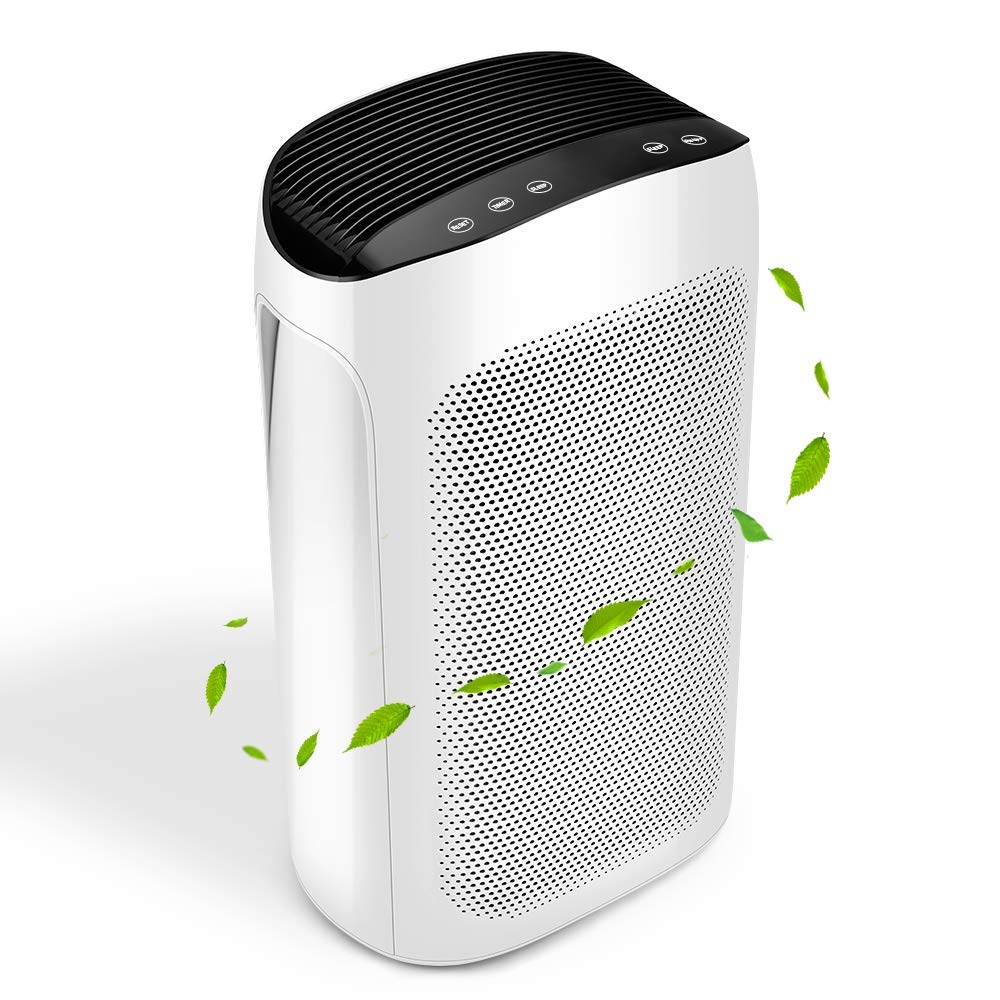 Air Purifier for Home with True HEPA Air Filter – Air Cleaner High Efficiency Refresh Large Room in 10min for Pets, Pollen, Mold Allergy, Asthma and Sinus Sufferer, Remove Kitchen Fumes and Fire Smoke