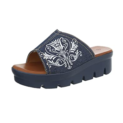 Ital Design Damenschuhe Sandalen  Sandaletten Pantoletten  36 EUDunkelblau S17125dk