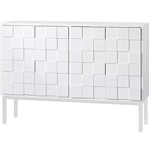 Aprodz Solid Wood Erechim Sideboard Storage Cabinet for Living Room