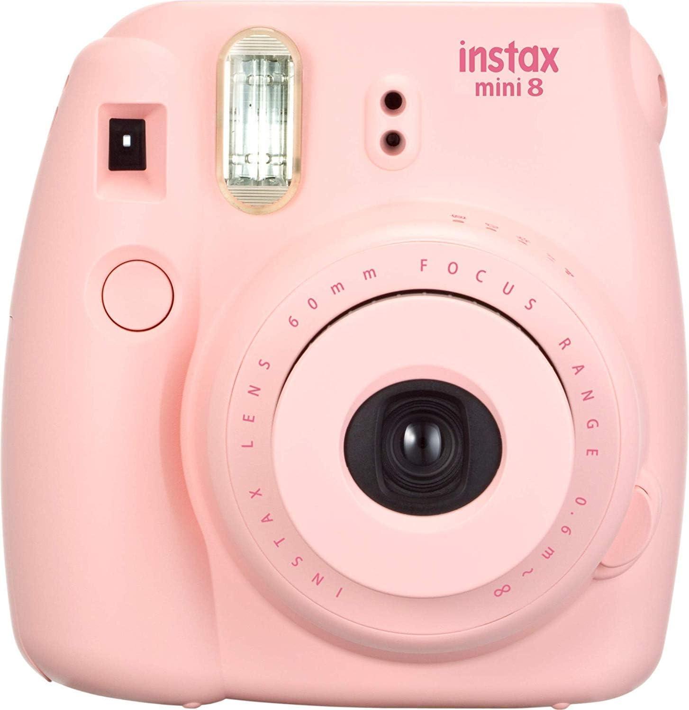 Fuji Instax Mini 8 Pink Fujifilm Instax Mini 8 Camera, Pink (Renewed)