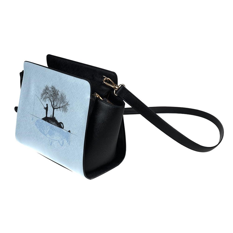 meincare Women's Fish Island PU leather Satchel Bag