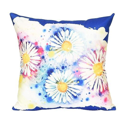 Funda de Cojín Floral Simple para Almohada de Sofá Cama ...