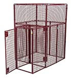 Animal House Large Double Doored Heavy Duty Outdoor Kennel (7.5' Hx5'Lx5'W) 298.5 lbs