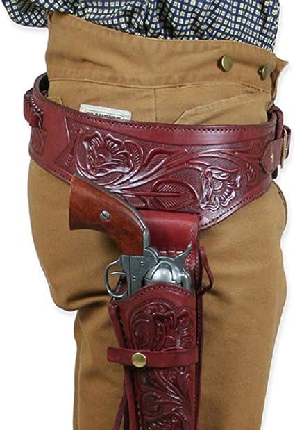 Solid Leather Western Cowboy Pistol Gun Holster /& Belt 38//357 44//45 caliber