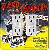 Rikki Knight 3704 Gfidouble Vintage Movie Posters Art Blood of Vampire 4 Design Light Switch Plate