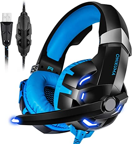 K2 Gaming Headset 7.1 Channel Stereo USB Headphone Earphone w// Mic for PC Laptop