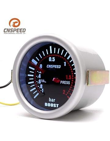 CNSPEED YC101310 Digital Universal 52mm Turbo Boost Vacío para Coche -1~2 BAR Manómetro