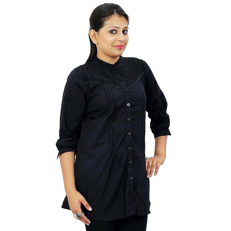 Indische Baumwollsommer-Frauen Boho Top Lässige Tunika Sommerkleid Bekleidung