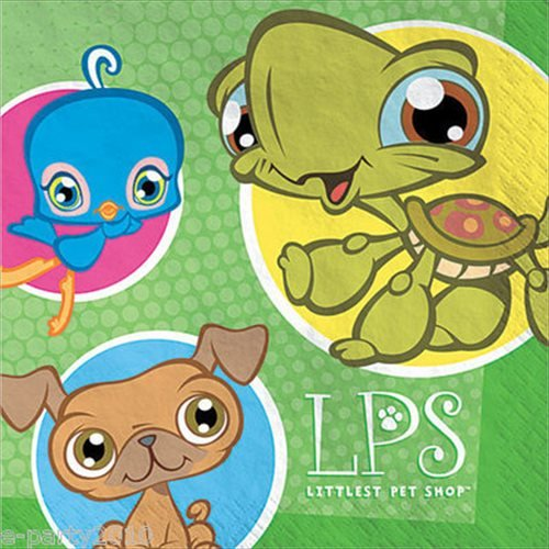 Designware Littlest Pet Shop Large Napkins (16ct) -