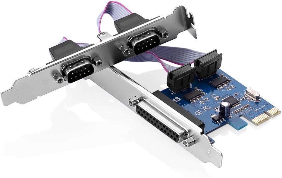 SIENOC PCI Express PCI-E PCI Express DB25 paralelo LPT1 DB9 RS232 ...