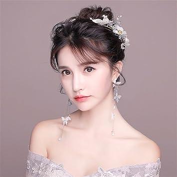 Wedding Dress Accessories.Amazon Com Bride Headdress White Head Flower Mori Korean Super