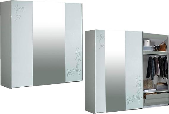LIGNEMEUBLE Aladin - Armario de 3 Puertas correderas (Lacado), Color Blanco: Amazon.es: Hogar