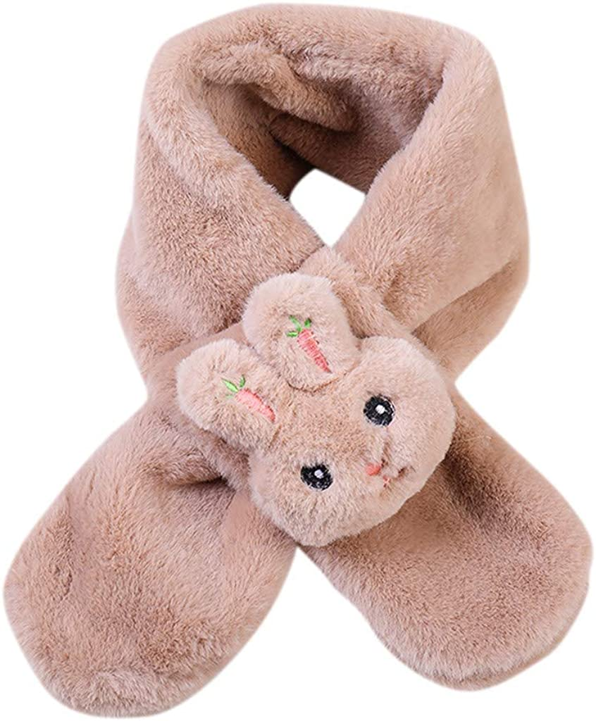 Amaone Children Scarf Girls Boys 2-8Years Old Winter Warm Soft Thickening Cute Rabbit Shawls Scarves Collar 80Cm X12Cm