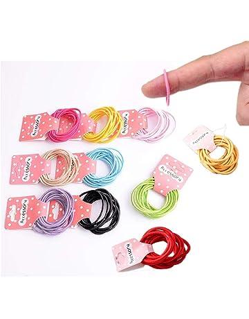 Mini fluo élastiques à cheveux en caoutchouc bandes tresses tressage tresses petites bandes