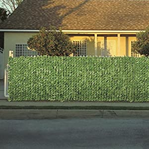Faux ivy privacy fence 3m roll screen artificial outdoor for Outdoor roll up privacy screens