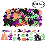 Halloween Stickers for Kids, Glitter Craft Stickers for Pumpkin Decorating or Halloween Bags, 500 Pieces