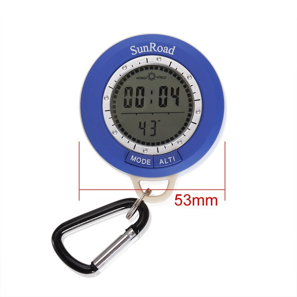 Thermometer Weather Forecaster and Digital Clock Compass Barometer Digital Altimeter with Altitude History