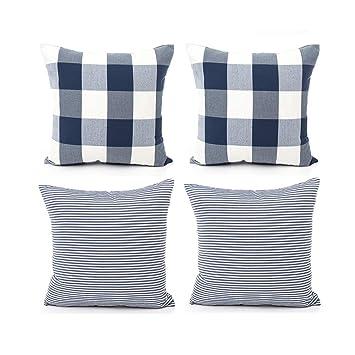 Amazon.com: COMHO - Juego de 4 fundas de almohada ...
