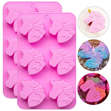 Unicorn Pony Chocolate Muffin Cake Cookie Silicone Baking Mold Mould Decorating