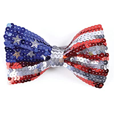 Bristol Novelty BA521 USA Sequin Bow Tie, Mens, One Size: Toys & Games