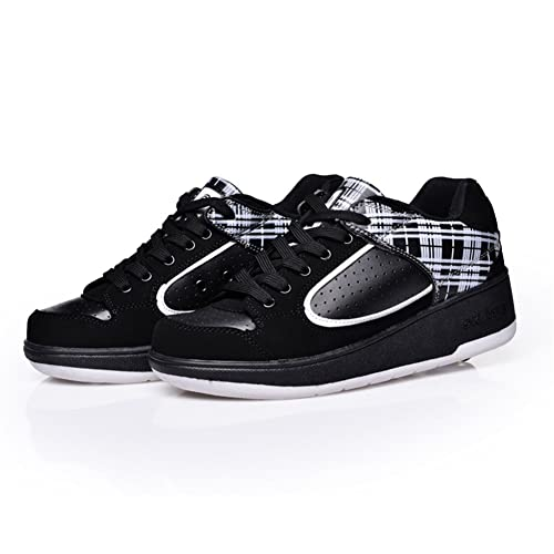 AIMOGE Unisex-niños Zapatos con Automática Ruedas Zapatillas de Skate Roller Shoes Sneakers Niños Niñas: Amazon.es: Zapatos y complementos