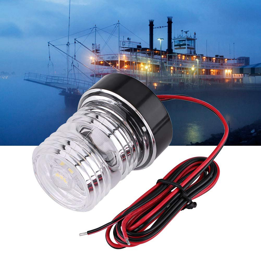 Marine Boat Anchor Light Yacht Navigation LED Light,12V Marine Boat Yacht Navigation All Round 360°White LED Anchor Light Waterproof Navigation Anchor Existing Anchor Vessel Lights by Tbest