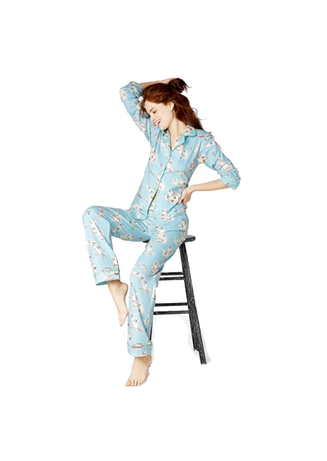 BedHead Pajamas Road Trip Stretch L/S Classic PJ Set 1002-SG6-2875 (XS)