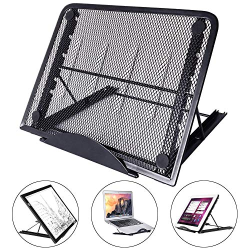 (Large Version Adjustable Light Box Pad Stand, 12 Angle Points Skidding Prevented Holder for XP-Pen Artist Huion 12/13.3 Inches 15.6 Inches Drawing Monitor/Huion A2 A3 LED Tracing Light Board (Black))