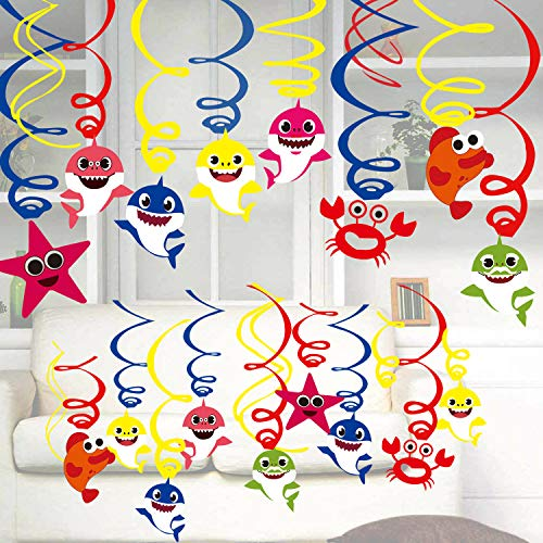 Baby Cute Shark Party Hanging Decorations - Shark