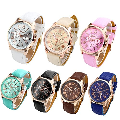 Top Plaza Fashion Wristwatches Leather