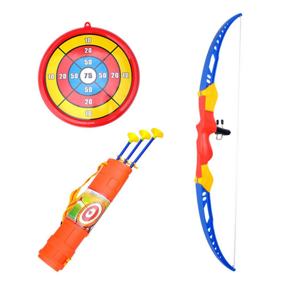 Regalo para Ni/ños a Partir de 6 A/ños Tosbess Flecha y Arco Ni/ños Tiro con Arco Juegos con 3 Flechas de Tiro