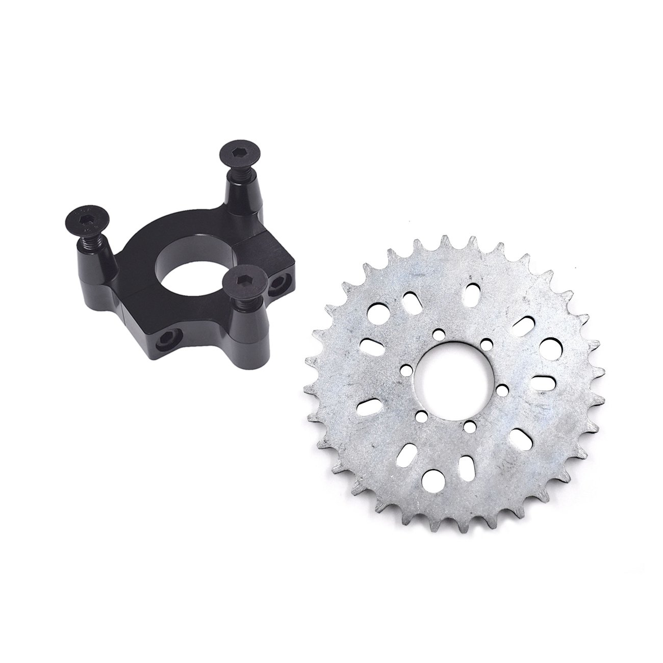 JRL 415 Chain Sprocket 1.5'' 32T Black CNC Adapter Motorized Bicycle 50cc 60cc 80cc by JRL