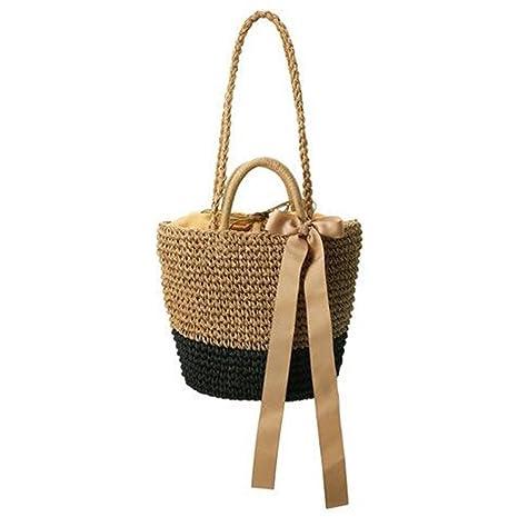 fe1db10f475a Amazon.com: Pure Handmade Straw Bag Luxe Beach Bag Luxury Designer ...