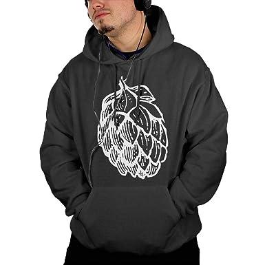 66e3d0b03cd36 Beer Hops1 Men Hoody Popular\r\n Coat with Kangaroo Pocket at Amazon ...