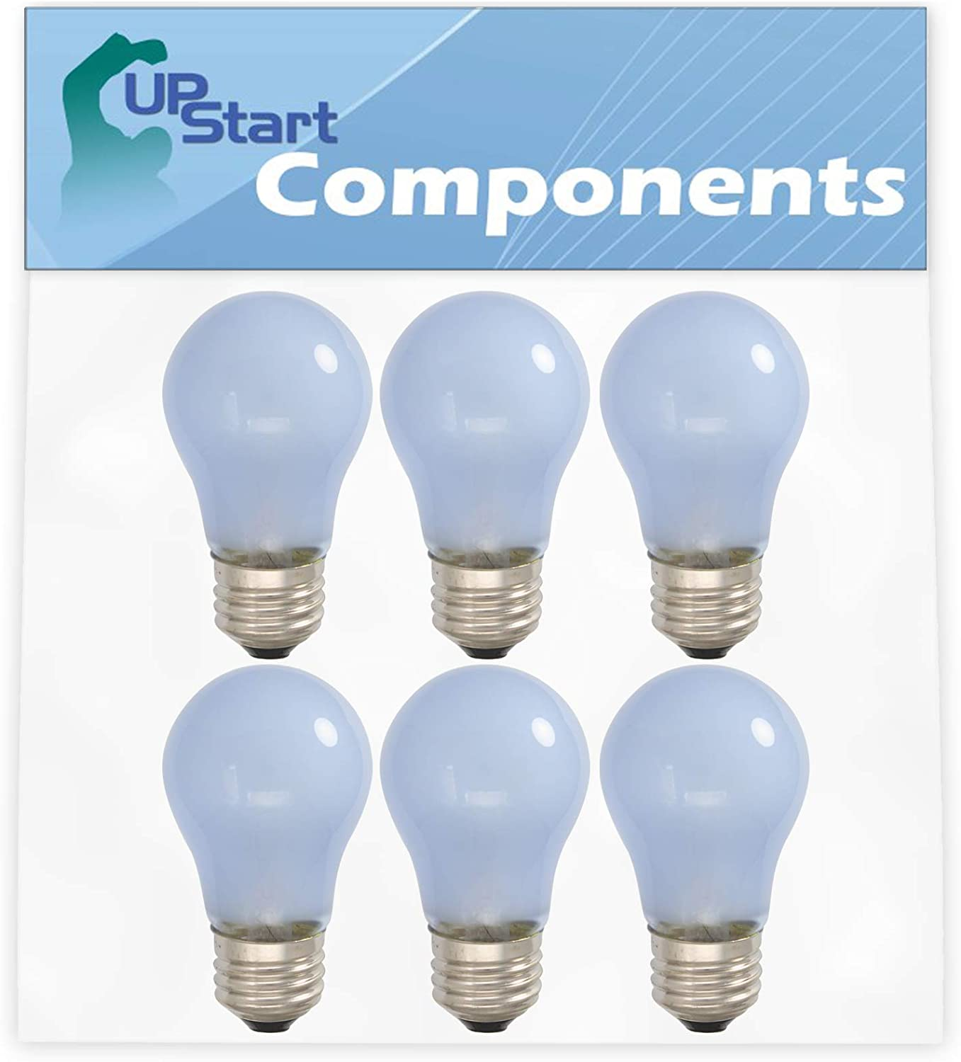 Compatible with Frigidaire 241555401 Light Bulb 6-Pack 241555401 Refrigerator Light Bulb Replacement for Electrolux EW23CS65GS1 Refrigerator