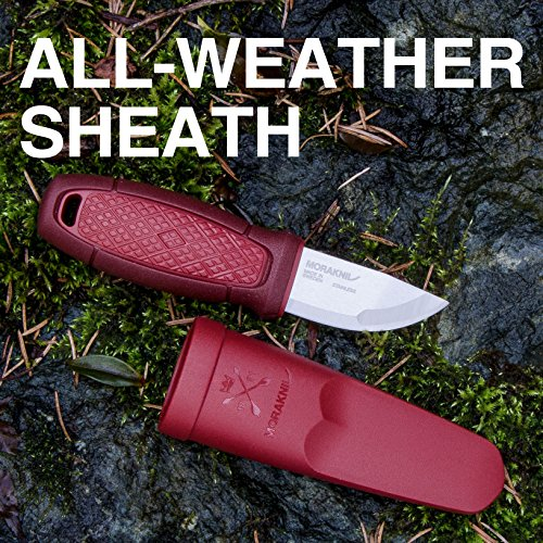 Morakniv Eldris Fixed Blade Pocket Sized Knife with Sandvik Stainless Steel Blade and Plastic Sheath
