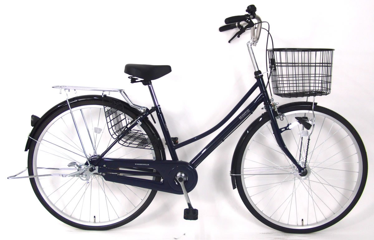 C.Dream(シードリーム) テクノタウンオートライト TW71-H 27インチ自転車 シティサイクル ネイビー 100%組立済み発送 B078V2H25Q