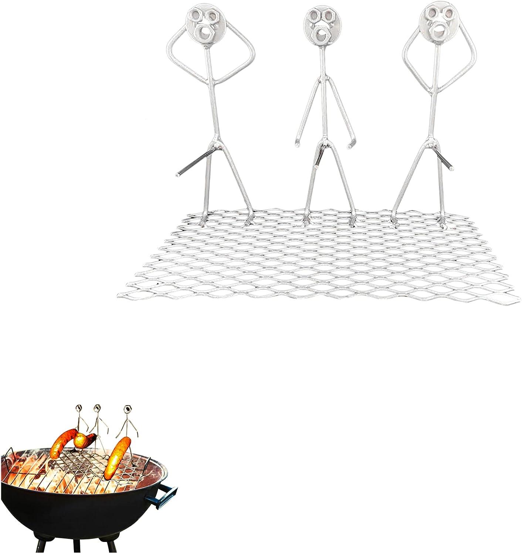 3 PCS Steel Hot Dog Marshmallow Roasters, Hot Dog Roasting Sticks for Campfire, Hot Dog Holder, 3 Guys Hot Dog Grill Rack, Hot Dog Skewers, Portable BBQ Hot Dog Barbecue Sausage Roaster Stand