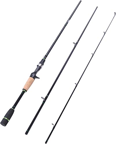 Fiblink Carbon Fiber Baitcasting Rod Portable Lightweight Bass Fishing Rod Fuji Guides Casting Rod 2-Piece 3-Piece Baitcaster