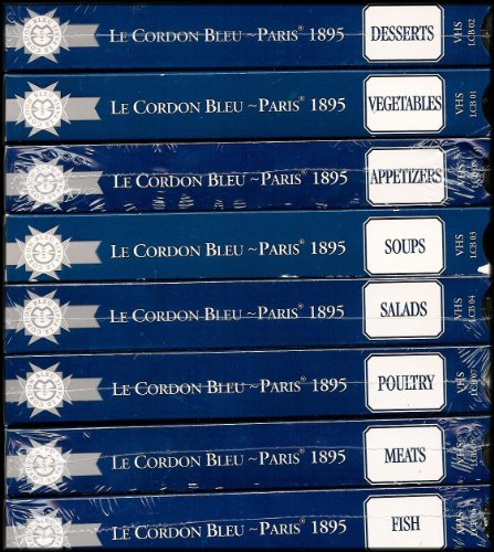 (Le Cordon Bleu of Paris Instructional Videos (Appetizers, Salads, Soups, Vegetables, Meats, Fish, Poultry, Desserts) [The Finest School of French Cuisine in the World] [8 VHS Videos])