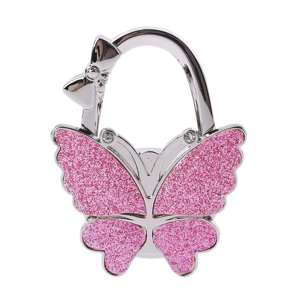 Bag Hook Portable Butterfly Handbag Purse Holder Folding Table Tote Hanger Women