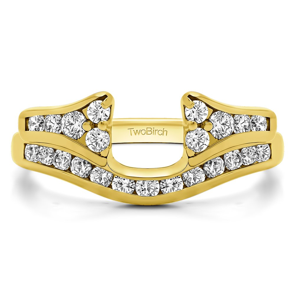 Diamond Classic Anniversary Ring Wrap in 10K Yellow Gold G-H I1(1.2Ct) Size 3 To 15 in 1/4 Size Interval